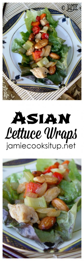 Asian Lettuce Wraps from Jamie Cooks It Up!