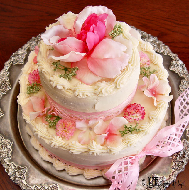 Tiered Vanilla Cake with Raspberry Filling