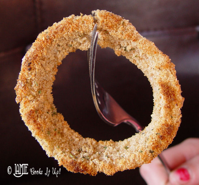 Healthy Oven Baked Onion Rings