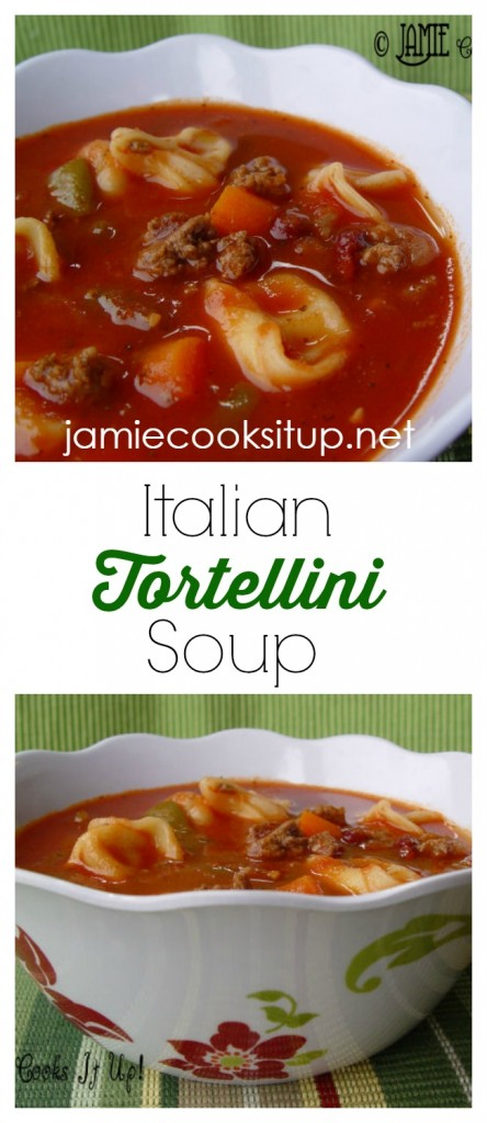 Italain Tortellini Soup from Jamie Cooks It Up!