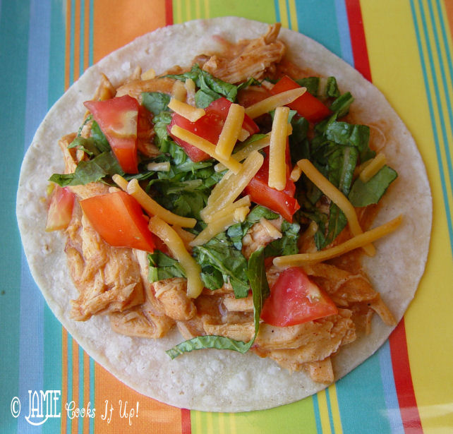 Creamy Chicken Tacos in the Crock Pot
