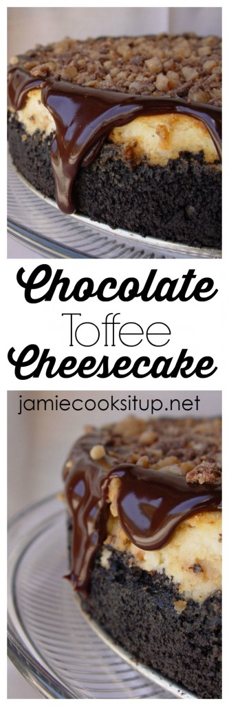 Chocolate Toffee Cheesecake from Jamie Cooks It Up!