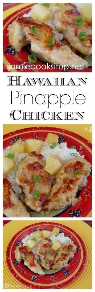Hawaiian Pineapple Chicken from Jamie Cooks It Up!