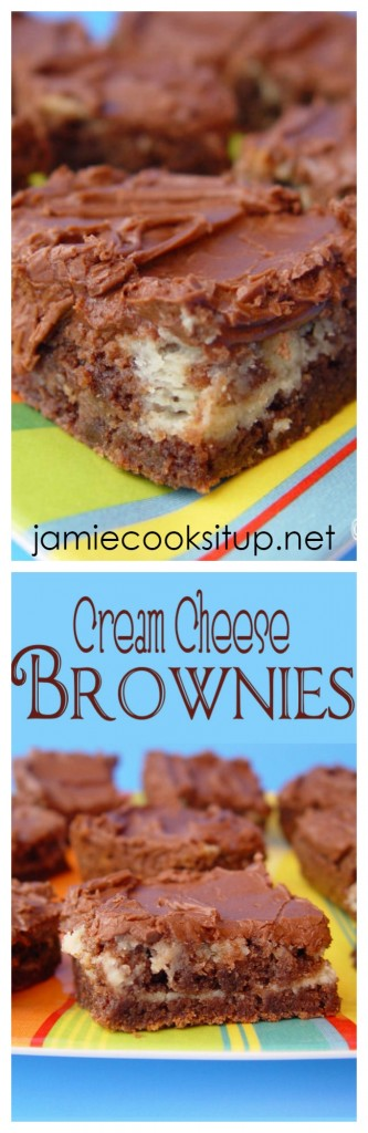 Cream Cheese Brownies from Jamie Cooks It Up!