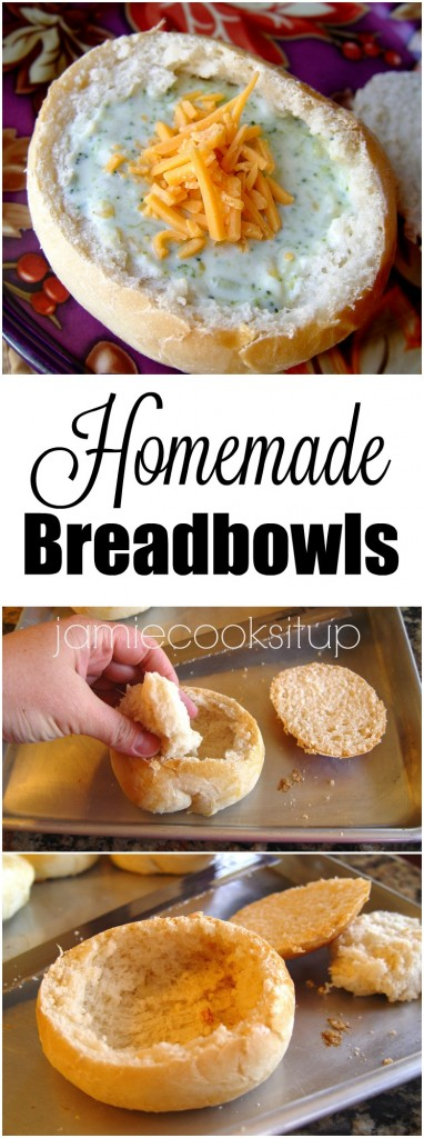 Homemade Breadbowls from Jamie Cooks It Up!