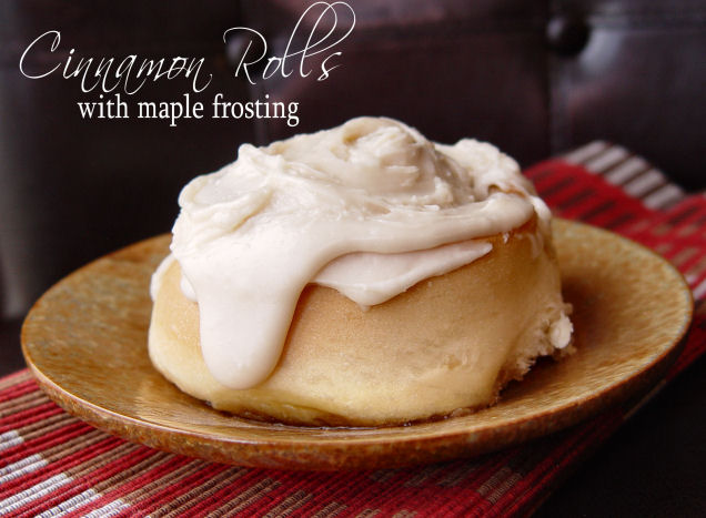 Cinnamon Rolls with Maple Frosting