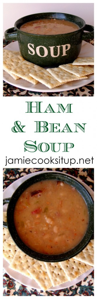 Ham and Bean Soup from Jamie Cooks It Up!