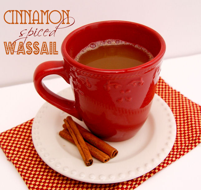 Cinnamon Spiced Wassail and a flute.