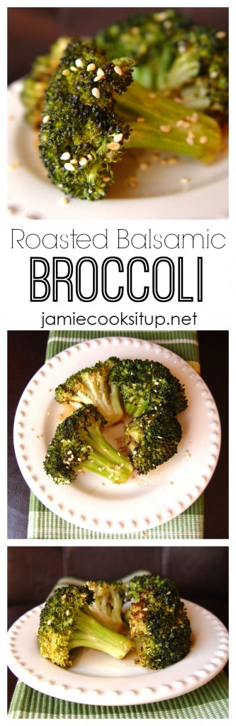 Roasted Balsamic Broccoli from Jamie Cooks It Up!