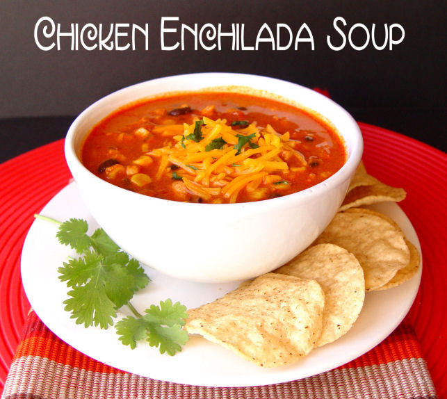 Chicken Enchilada Soup (Crock Pot