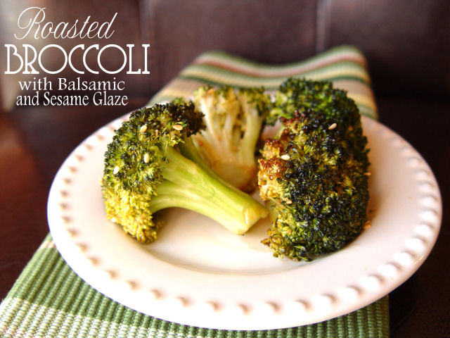 Roasted Broccoli with Balsamic Sesame Glaze