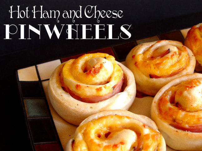 Hot Ham and Cheese Pinwheels
