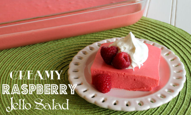 Creamy Raspberry Jello Salad