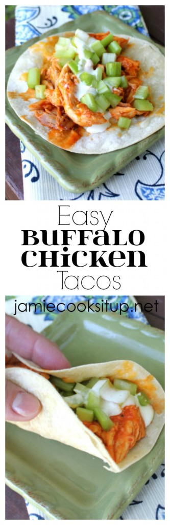 Easy Buffalo Chicken Tacos from Jamie Cooks It Up!
