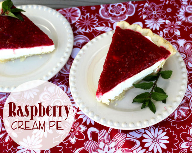 Raspberry Cream Pie