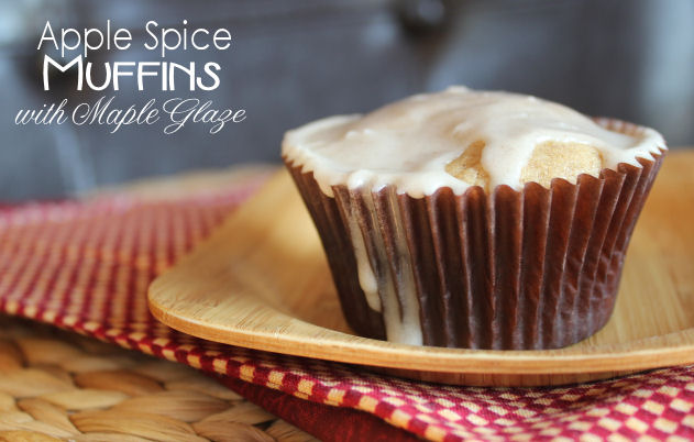 Apple Spice Muffins with Maple Glaze