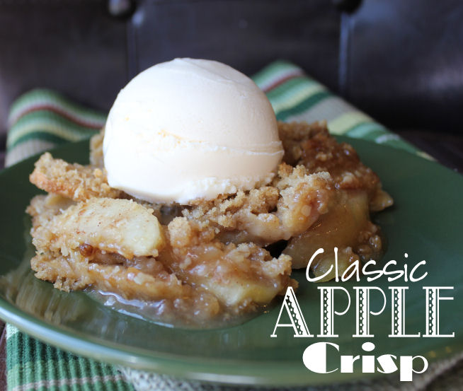 Classic Apple Crisp from Jamie Cooks It Up