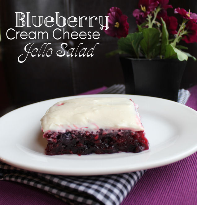 Blueberry Cream Cheese Jello Salad