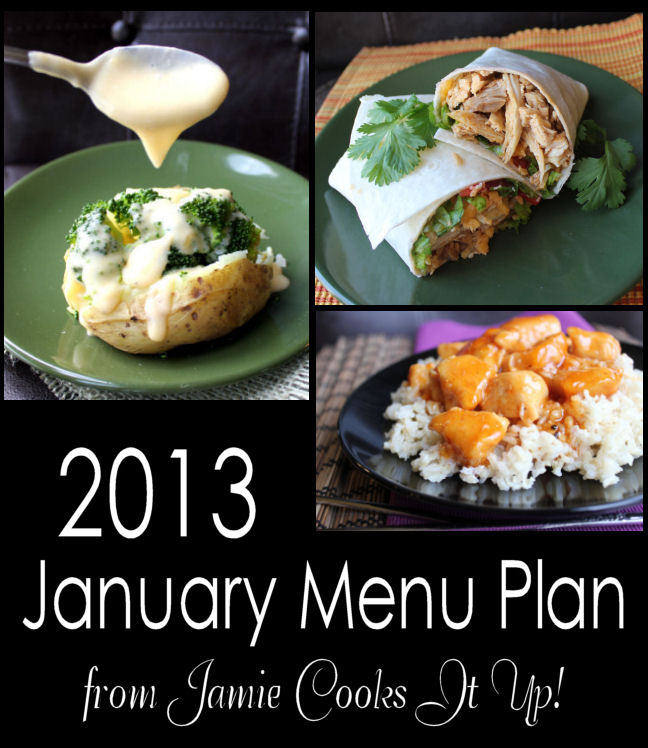 January Menu Plan 2013