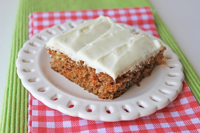 Carrot Sheet Cake with Cream Cheese Frosting - Jamie Cooks It Up ...