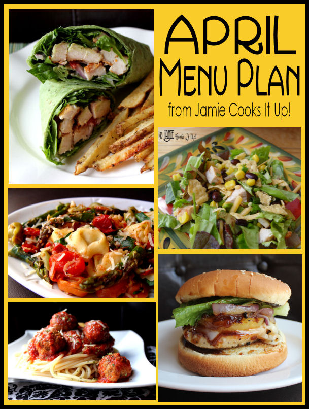 April Menu Plan 2013