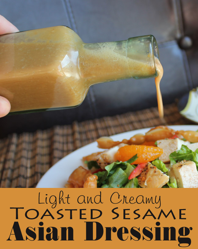 Light and Creamy Toasted Sesame Asian Dressing