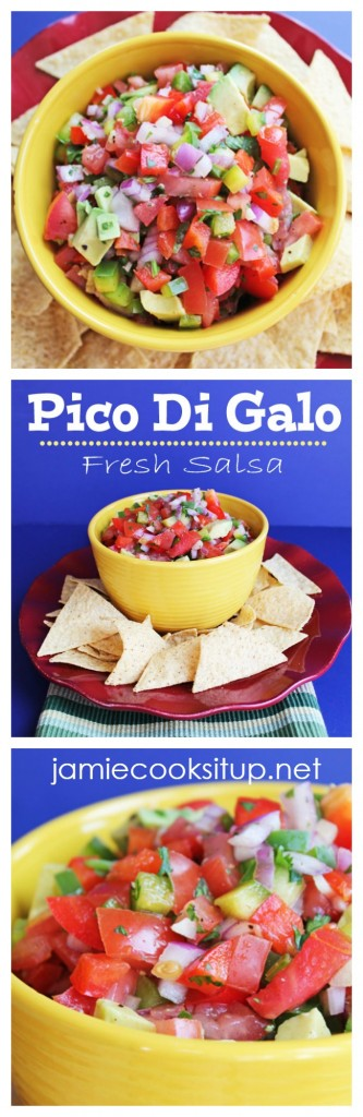 Pico De Gallo (Fresh Mexican Salsa) from Jamie Cooks It Up!