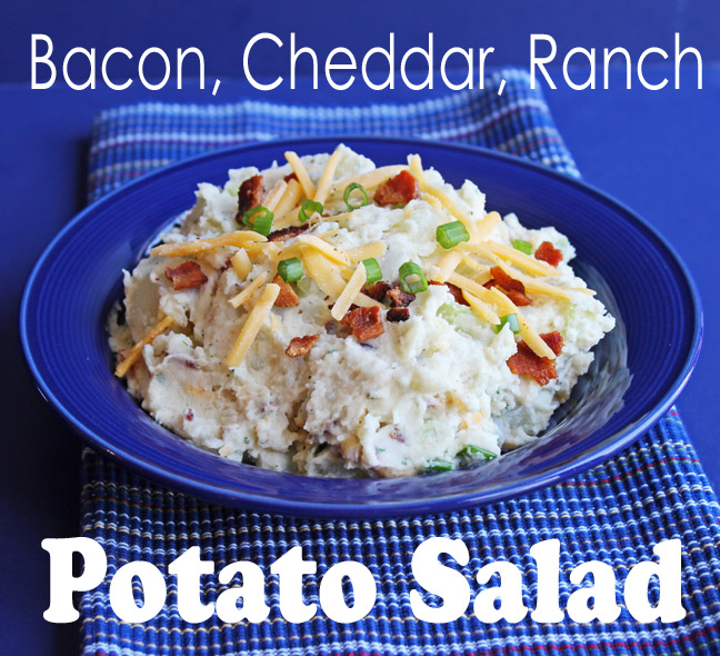 Bacon, Cheddar, Ranch Potato Salad from Jamie Cooks It Up!