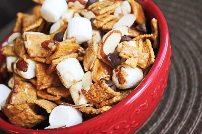 Caramel Smore Munch Mix from Jamie Cooks It Up