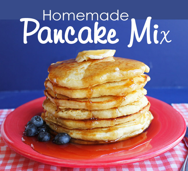Homemade Pancake Mix with Printable Tags