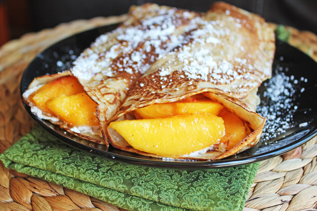 Cinnamon Sugar Crepes from Jamie Cooks It Up!