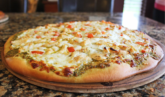 Chicken Pesto Pizza from Jamie Cooks It Up