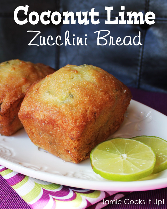 Coconut Lime Zucchini Bread from Jamie Cooks It Up-
