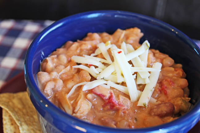 Creamy White Chicken Chili from Jamie Cooks It Up!