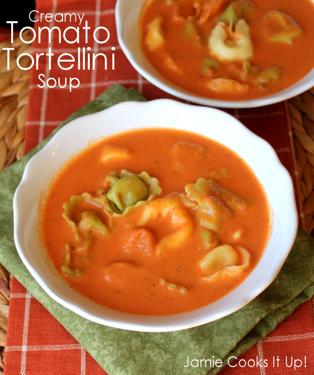 Creamy Tomato Tortellini Soup from Jamie Cooks It Up1