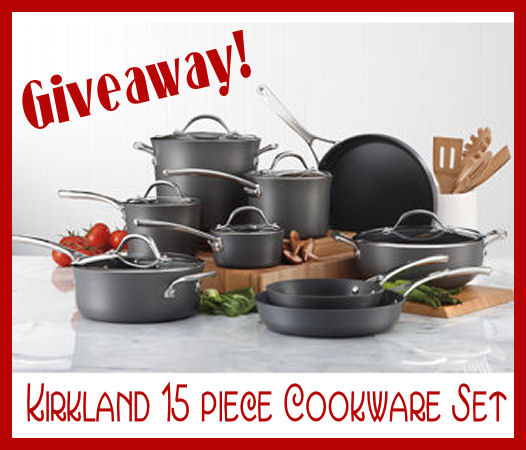 GIVEAWAY! 15 Piece Kirkland Cookware Set (Pots and Pans, man)