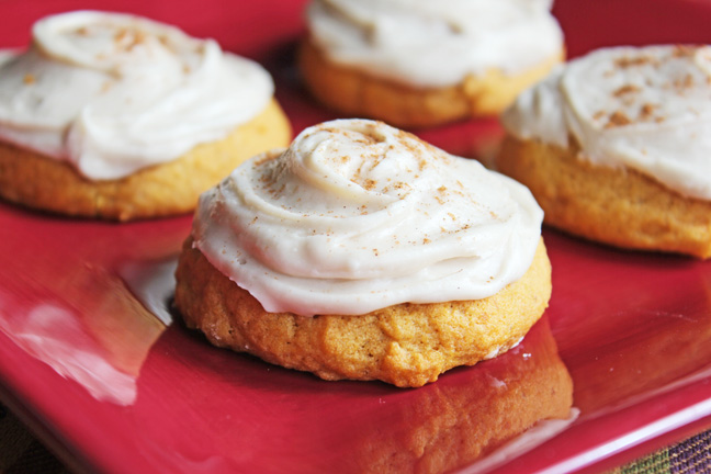 Melt In Your Mouth, Soft Frosted Pumpkin Cookies