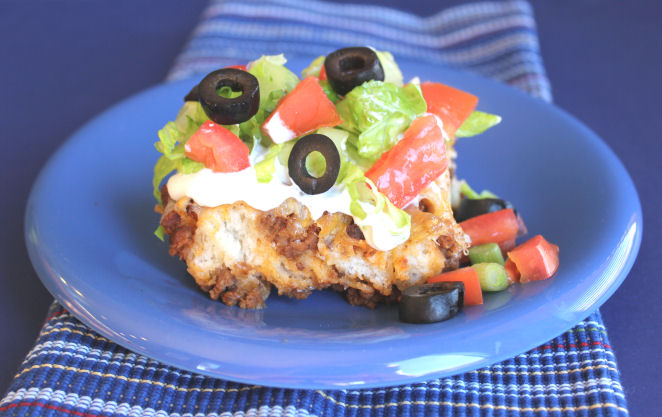 Puffy Taco Casserole from Jamie Cooks It Up