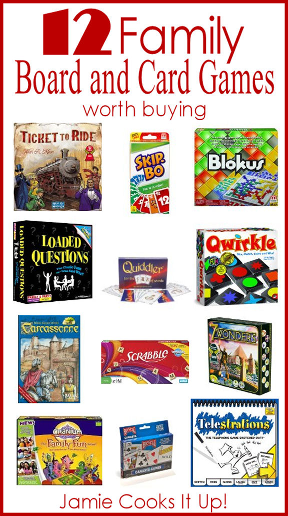 12 Family Board and Card Games Worth Buying from Jamie Cooks It Up!