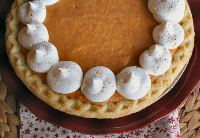 Pumpkin Chiffon Pie from Jamie Cooks It Up!