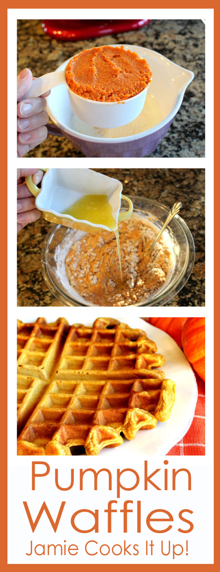 Pumpkin Waffles from Jamie Cooks It Up!!