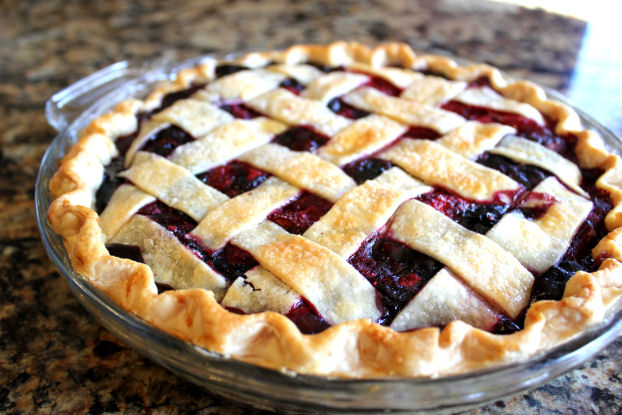 Triple Berry Pie with Lattice Top from Jamie Cooks It Up!