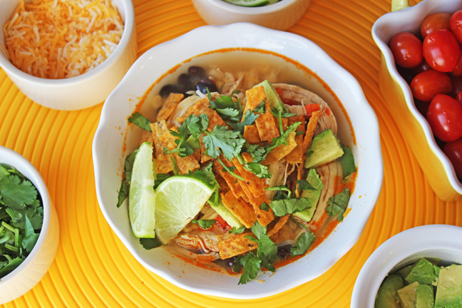 Classic Chicken Tortilla Soup from Jamie Cooks It Up!