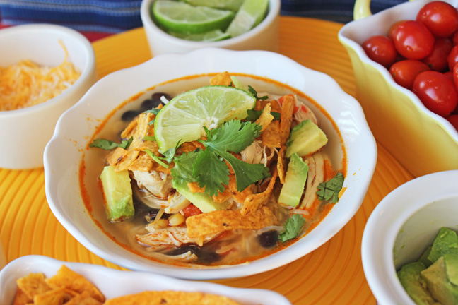Classic Chicken Tortilla Soup from Jamie Cooks It Up!!