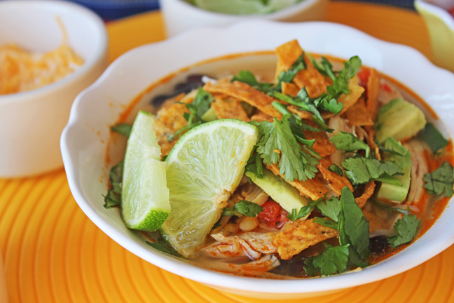 Classic Chicken Tortilla Soup (Fully Loaded!)