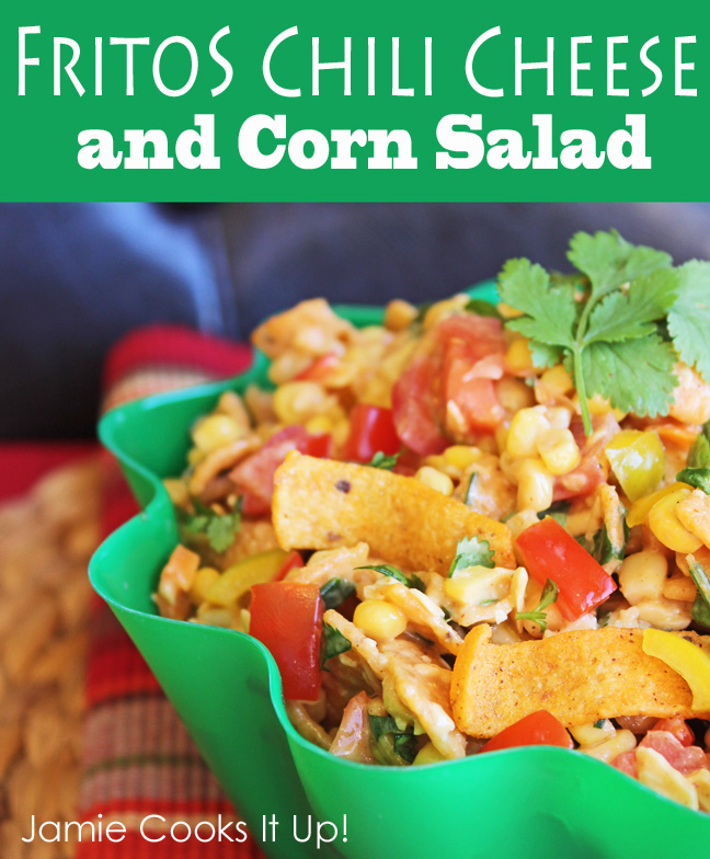 Fritos Chili Cheese and Corn Salad from Jamie Cooks It Up!