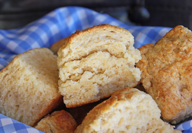 Mile High Butterflake Biscuits from Jamie Cooks It Up