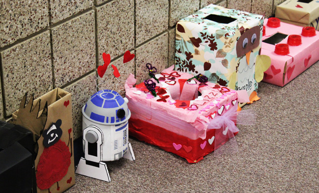 They Had A Fun Little Valentines Party Complete With Darling Valentines  Boxes (can You Believe That Awesome R2D2u2026or Is He C3PO? Not Really Sure  Which, ...