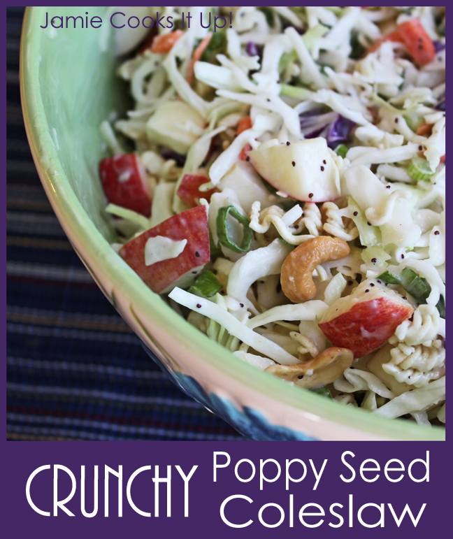 Crunchy Poppy Seed Coleslaw from Jamie cooks It Up!!