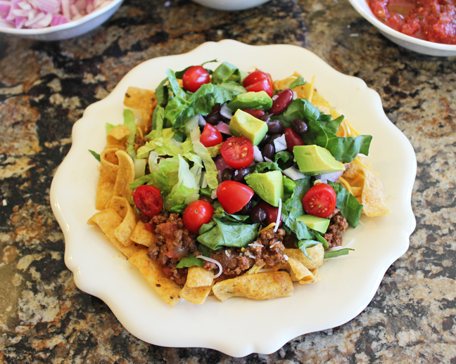 Taco Salad (Build Your Own) from Jamie Cooks It Up!